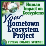 NGSS Human Impact on the Environment Project:  YOUR HOME TOWN Ecosystems