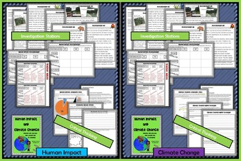 Human Impact and Climate Change Unit Lesson Sets (NGSS) Middle School