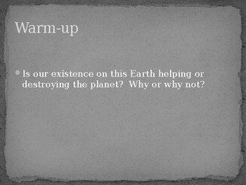 Human Impact on Earth