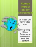 Human Impact on the Environment -25 lessons including poetry, spelling and more!
