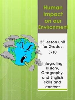 Human Impact on the Environment -25 lessons including poet