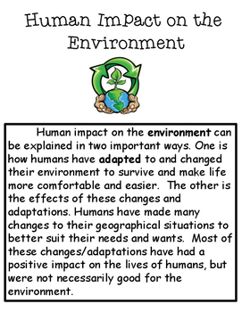 Human Impact on the Environment Article