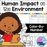 Human Impact on the Environment: Color-By-Number