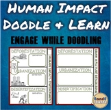 Human Impact on the Environment Science Doodle & Learn Notes
