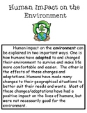 Human Impact on the Environment Informational Text