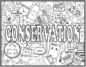 Human Impact on the Environment & Conservation Seek and Find  Doodle Combo