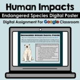 Human Impacts - Endangered Species Digital Poster - Google - Distance Learning!