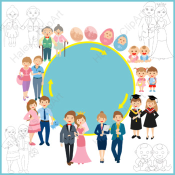 Stages and Events of Life (Clip Art)