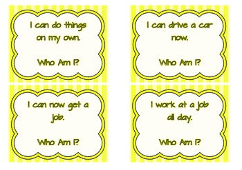 Human Life Cycle Game - Who Am I? Sorting Game