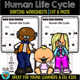 Human Life Cycle Sequencing Worksheets | Cut and Paste