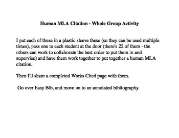 Human MLA Citation