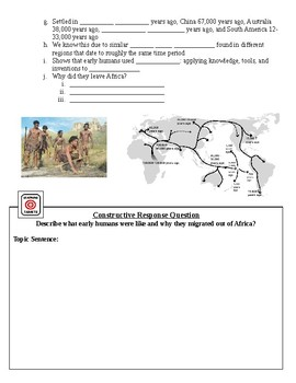 Human Migration & The Beginning of Agriculture Guided Lecture Notes