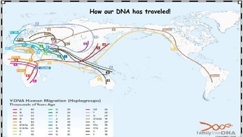 Human Migration Theories, Origin of Native Americans and DNA Activity