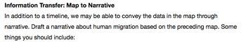 Human Migration - Transfer Maps to Narrative