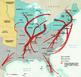 Human Migration (Underground Railroad) Social Studies Map Lesson