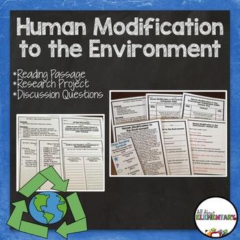Human Modification to the Environment