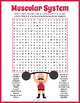 Human Muscular System Word Search Puzzle