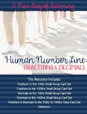 Human Number Line - Fractions and Decimals - Math Center or Whole Group Activity