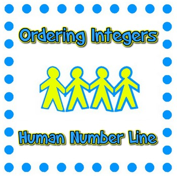Human Number Line - Integers