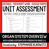 Human Organ System Overview Unit Exam