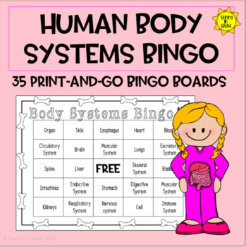 Human Organs and Systems Bingo