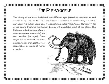 Human Origins and Evolution.  Reading, Comprehension Q's and teachers guide