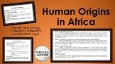 Human Origins in Africa Learning Menus