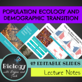 Human Population Growth: Demographic Transition Notes