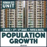Human Population Growth Trends Inquiry Unit Print & Digital