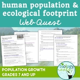 Ecology- Human Population Web Quest