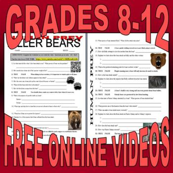 Human Prey - 6 Animal Video Worksheets Bundle (FREE Online Videos)