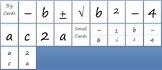 Human Quadratic Formula Cards