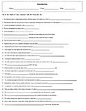 Human Reproduction Fill-in Worksheet with Key