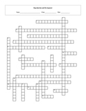Human Reproduction and Development Crossword Puzzle with key