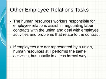 Human Resource Management Unit PowerPoint With Assignments