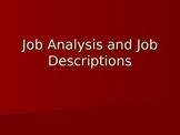 Human Resources Management- Job Analysis and Job Descriptions
