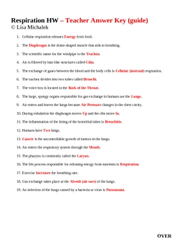 Human Respiration Homework 1