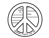 Human Rights (Peace Sign) Bulletin Board