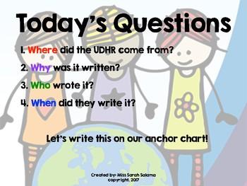 Human Rights 5th Grade ELA Engage NY Module 1 Lesson 2