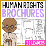 10 Human Rights Leaders Research Brochures, Mini Book, Interactive Notebook