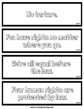 Human Rights Bookmarks