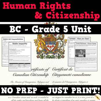 Human Rights, Citizenship, and Protests - BC Social Studies Grade 5 Unit