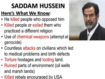 Human Rights Contemporary Issues Saddam Hussein Unit Global Studies