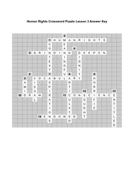 Human Rights Crossword Puzzle Lesson 3