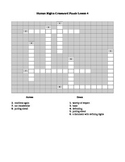 Human Rights Crossword Puzzle Lesson 4
