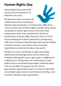 Human Rights Day Handout