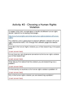 Human Rights Exploration
