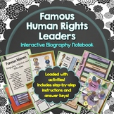 Human Rights Leaders, Biography, Interactive Notebook,  Activities, Lapbook