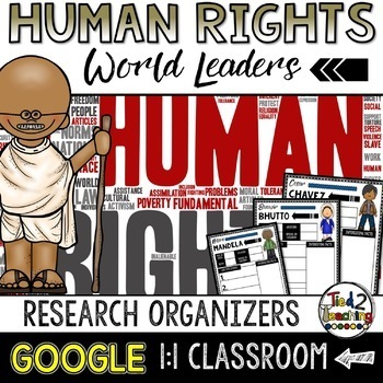 Human Rights Leaders Biography Report & Informational Writing: Google Classroom