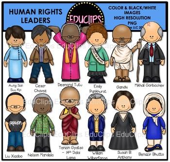 Human Rights Leaders Clip Art Bundle